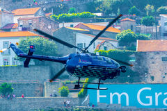 Red Bull TV Helicopter Stock Images