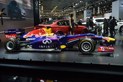 Red bull Vettel, Rikyardo Moscow International Automobile Salon High speed Stock Photo