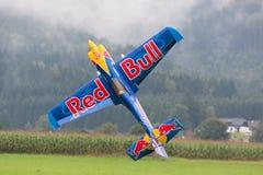 Red Bull - Vliegtuigen - ModelAircraft - lage vleugelkunstvliegen Stock Foto