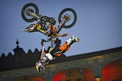 Red Bull X-Fighters show Royalty Free Stock Photo