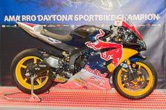 Red Bull Yamaha YZF-R6 motorcycle royalty free stock photo