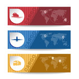 Red bull and yellow Banner cargo transport vector background Royalty Free Stock Images