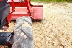 Red bulldozer Stock Photos