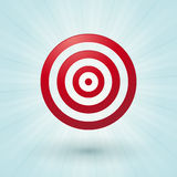 Red bullseye Royalty Free Stock Images