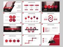 Red Bundle infographic elements presentation template. business annual report, brochure, leaflet, advertising flyer,. Bundle infographic elements presentation vector illustration