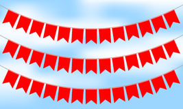 Red bunting. Vector illustration of red bunting Stock Images