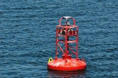 Red buoy royalty free stock photos