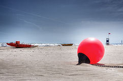Red buoy Royalty Free Stock Images