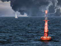 Free Red Buoy Royalty Free Stock Photo - 56244405