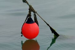 The red Buoy. Royalty Free Stock Photos