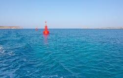 Red buoy light Royalty Free Stock Photos
