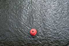 Red Buoy On The Water Surface Stock Photography