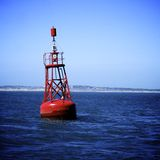 Red Buoy Royalty Free Stock Photography