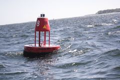 Red Buoy Stock Images