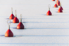 Red Buoys Royalty Free Stock Image
