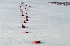 Red Buoys Rhythm Stock Images