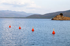 Red Buoys In The Sea Stock Images