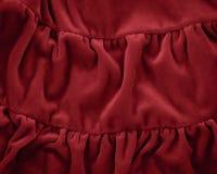 Red burgundy marsala fleece soft fabric Stock Photo