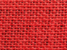 Red burlap fabric texture background Royalty Free Stock Image
