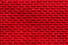 Red Burlap Fabric Texture Background, Sacking Cloth Stock Image