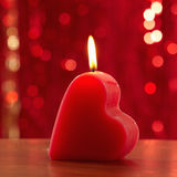 Red burning candle Stock Photography