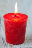 Red burning candle Stock Photos