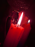 Red burning candles Stock Images