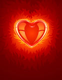 Red burning love heart Royalty Free Stock Photo