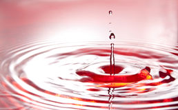 Red burning ripple. Beauty red liquid waves on fire Stock Photos
