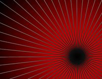 Red Burst. Abstract red and black burst background stock illustration