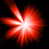 Red Burst. A burst of red light. High resolution, created in Photoshop Royalty Free Stock Images