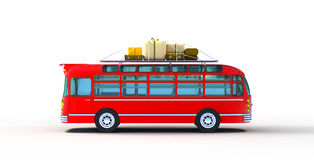 Red bus adventure Royalty Free Stock Photography