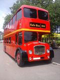 Red bus. The red bus - cafe in the park of Pyatigorsk Royalty Free Stock Photography