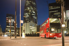 Red Bus in City of London Royalty Free Stock Photography