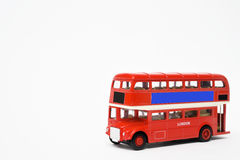 Red bus isolated on white background.  Royalty Free Stock Images