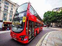 Red bus in London (hdr) Stock Image