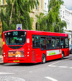 Red bus in London (hdr) Royalty Free Stock Image