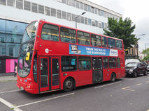 Red bus in London Stock Photo