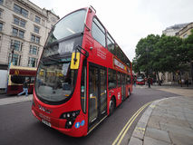 Red bus in London Royalty Free Stock Photos