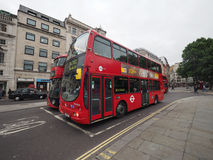 Red bus in London Royalty Free Stock Image