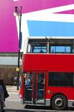 Red bus in Oxford Street. London. UK Royalty Free Stock Photo