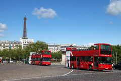 Paris bus Stock Image