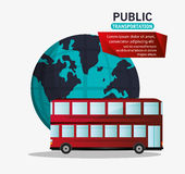 Red bus two storied tourism public transport Stock Photography