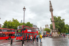 Red Buses in London Stock Image