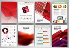 Red business backgrounds and abstract concept infographics Royalty Free Stock Photography