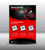 Red business brochure flyer design layout template in A4 size,Po. Business brochure flyer design layout template in A4 size, newsletter Leaflet poster flyer Royalty Free Stock Image