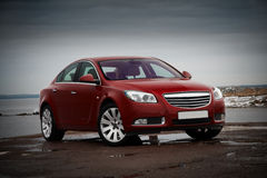 Red business car Royalty Free Stock Photo