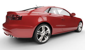 Free Red Business Car Back View 2 Stock Image - 59001541