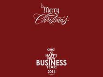 Red business card background for New Year Royalty Free Stock Photos