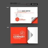 Red Business Card Royalty Free Stock Photo